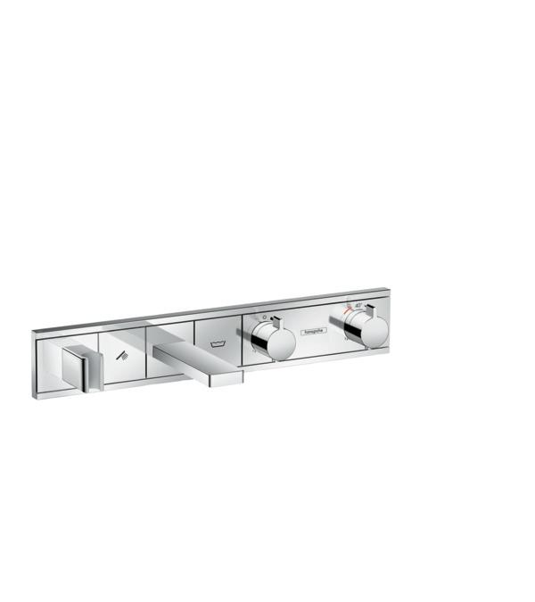 Фото - Термостат hansgrohe RainSelect для ванны с 2 потребителями, хром 15359000 термостат для ванны hansgrohe rainselect 15356400