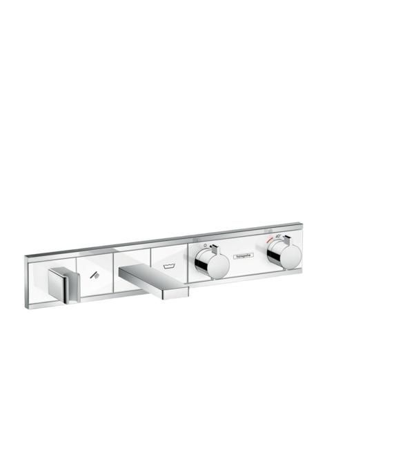 Фото - Термостат hansgrohe RainSelect для ванны с 2 потребителями, хром 15359400 термостат для ванны hansgrohe rainselect 15356400