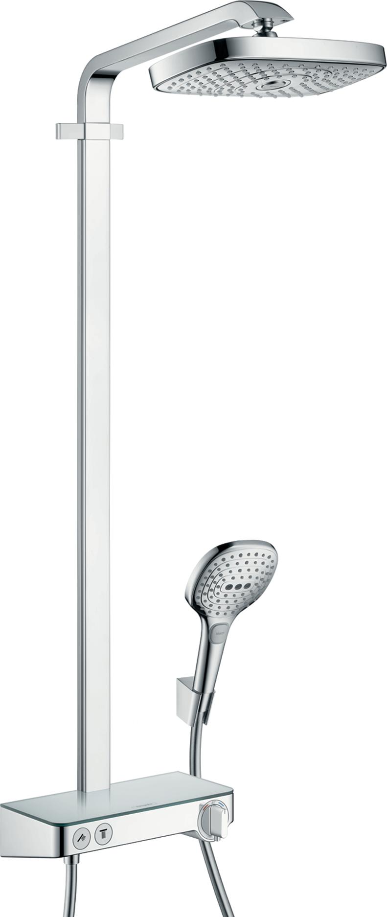 Душевая система hansgrohe Raindance Select E 300 2jet Showerpipe с термостатом, хром 27126000