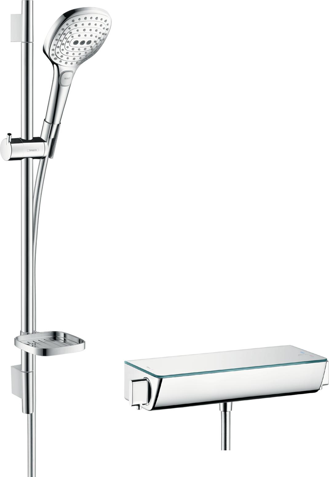 Душевой набор hansgrohe Ecostat Select/Raindance Select E 120 3jet/Combi 27038400 hansgrohe ecostat e 15700000