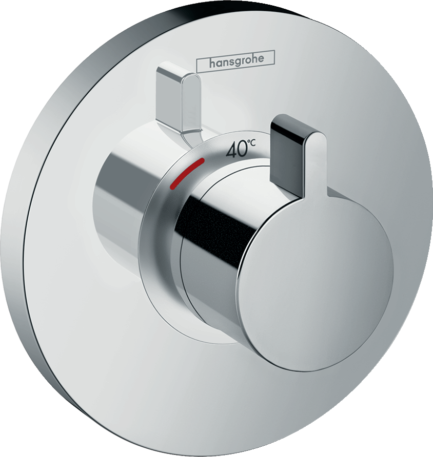 Фото - Термостат hansgrohe ShowerSelect S Highflow для душа 15741000 переключатель потоков для душа hansgrohe showerselect 15736400