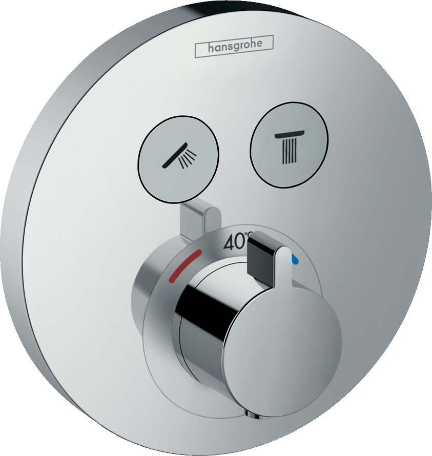 Фото - Термостат hansgrohe ShowerSelect S для душа 15743000 переключатель потоков для душа hansgrohe showerselect 15736400