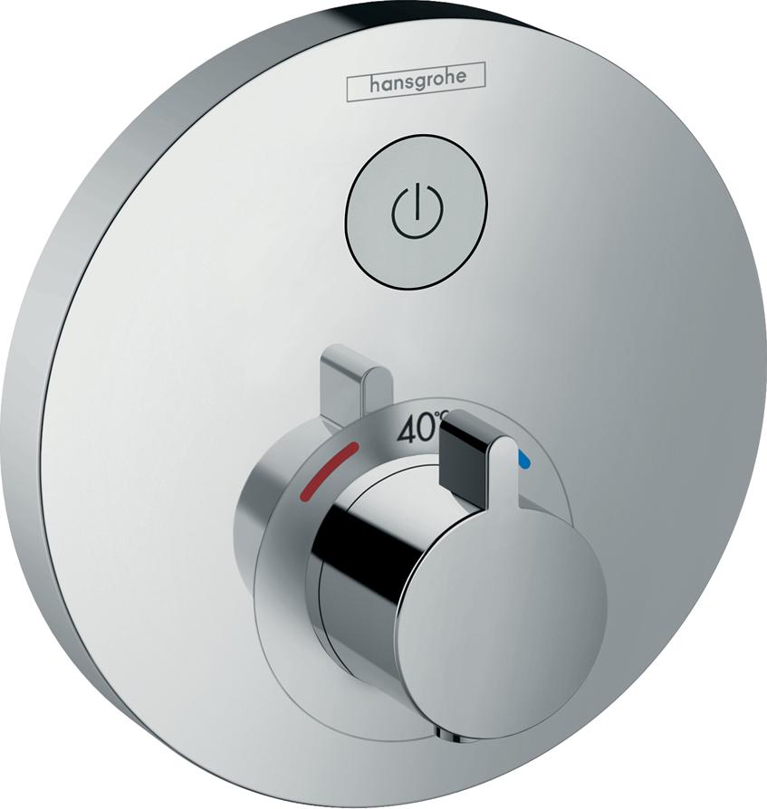 Фото - Термостат hansgrohe ShowerSelect S для душа 15744000 переключатель потоков для душа hansgrohe showerselect 15736400