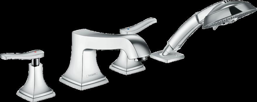 Фото - Смеситель hansgrohe Metropol Classic на борт ванны 31441000 смеситель для ванны hansgrohe metropol classic 31340090