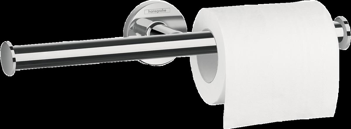 Держатель туалетной бумаги двойной Hansgrohe Logis Universal 41717000, без крышки двойной крючок hansgrohe logis universal 41725000