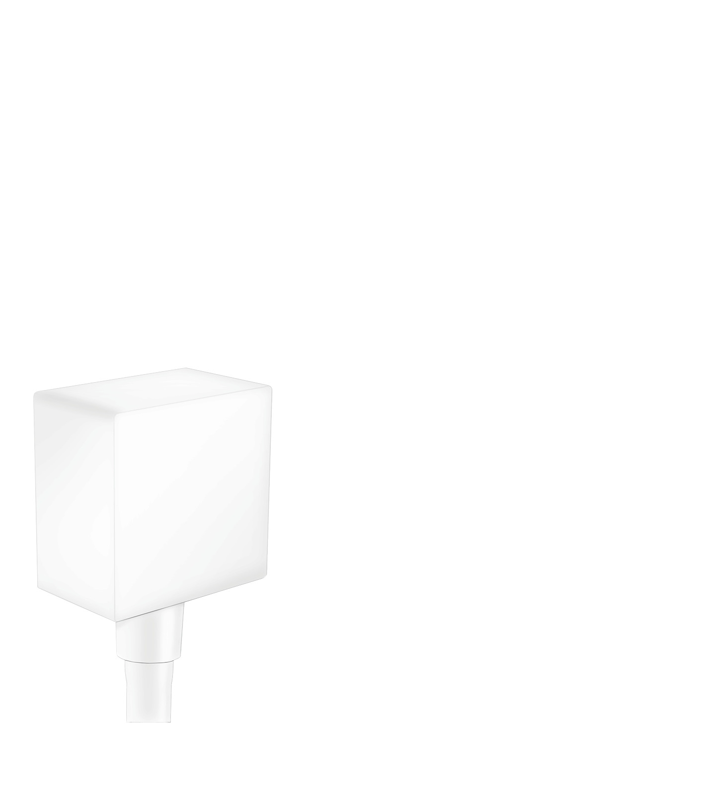 Шланговое подсоединение hansgrohe FixFit Square с клапаном обратного тока 26455700