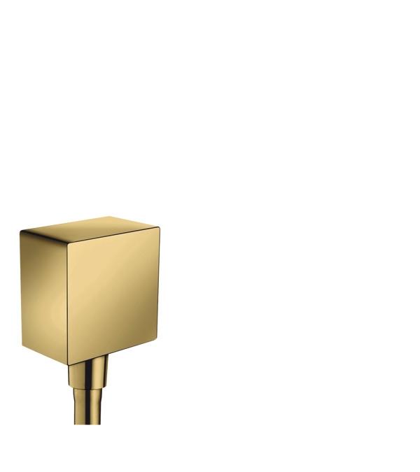 Шланговое подсоединение hansgrohe FixFit Square с клапаном обратного тока 26455990