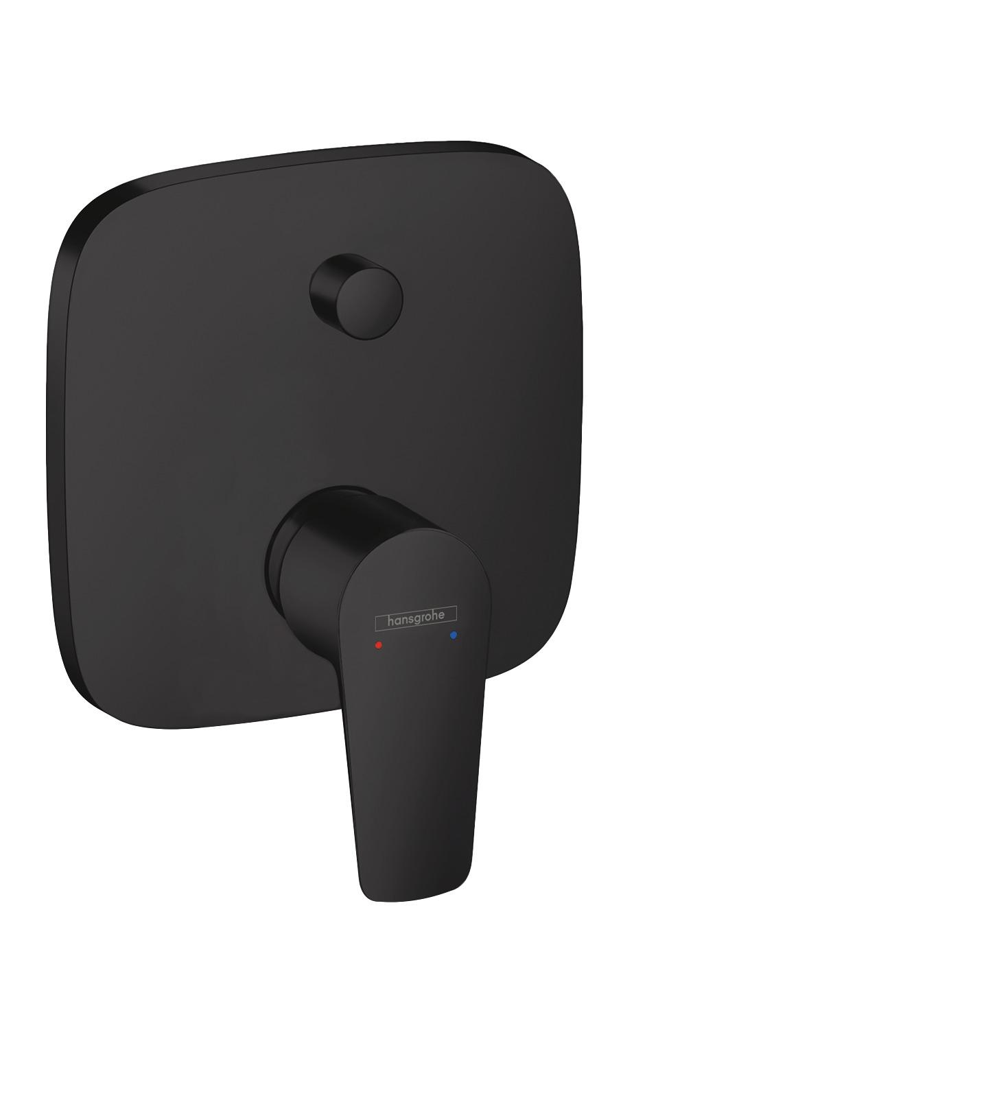 Смеситель hansgrohe Talis E для ванны, однорычажный, СМ, матовый черный 71745670