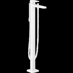 Смеситель hansgrohe Metropol для ванны, однорычажный, напольный, с рычаговой рукояткой, матовый белый 32532700