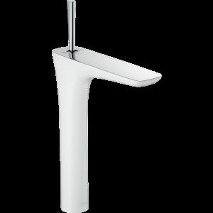 Смеситель hansgrohe PuraVida для раковины в форме таза, белый/хром 15072400