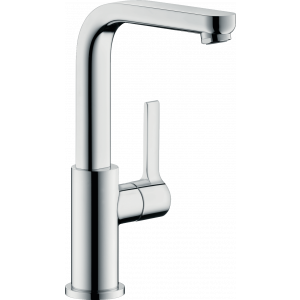 Смеситель hansgrohe Metris S для раковины с поворотным изливом и сливным клапаном Push-Open, хром 31161000