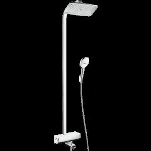 Душевая система hansgrohe Raindance Select E 360 Showerpipe с термостатом для ванны, белый/хром 27113400