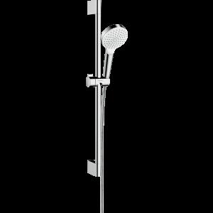 Душевой набор hansgrohe Crometta 1jet 65 см, белый/хром 26533400