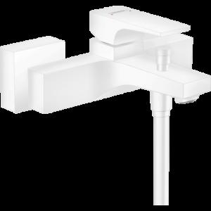 Смеситель hansgrohe Metropol для ванны, однорычажный, внешнего монтажа, с рычажной рукояткой, матовый белый 32540700