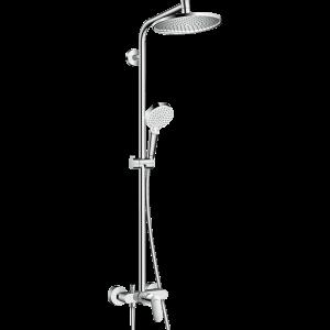 Душевая система hansgrohe Crometta S 240 1jet Showerpipe EcoSmart со смесителем 27269000
