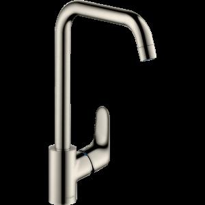 Смеситель hansgrohe Focus для кухонной мойки с поворотным изливом на 3 положения, сталь 31820800