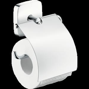 Держатель туалетной бумаги hansgrohe PuraVida с крышкой 41508000