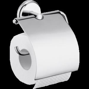 Держатель туалетной бумаги hansgrohe Logis Classic с крышкой 41623000