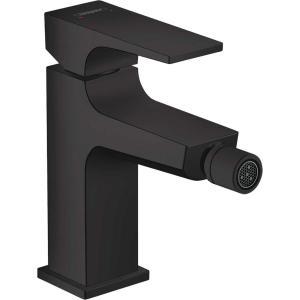 Смеситель hansgrohe Metropol для биде, однорычажный, со сливным клапаном Push-Open, матовый черный 32520670