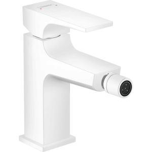 Смеситель hansgrohe Metropol для биде, однорычажный, со сливным клапаном Push-Open, матовый белый 32520700