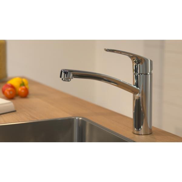 Смеситель hansgrohe Focus для кухонной мойки с поворотным изливом, хром 31806000