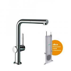 Кухонный смеситель hansgrohe Talis M54, 270 однорычажный с вытяжным изливом, 1jet, sBox 72809000