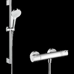 Душевой набор Crometta Vario/Ecostat 1001 CL Combi, 0.65 м, белый/хром Set 27812400