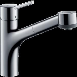 Кухонный смеситель Hansgrohe Talis M52 однорычажный, 170, для водонагревателей открытого типа, с вытяжным душем, 2jet 32842000, хром