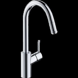 Кухонный смеситель Hansgrohe Talis M52 однорычажный, 260, Eco, с вытяжным изливом, 1jet 72832000, хром