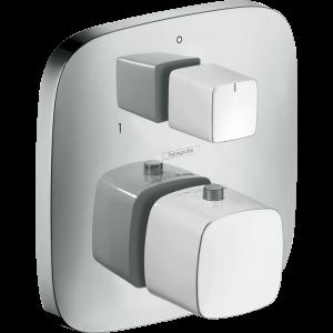 Термостат hansgrohe PuraVida для ванны 15771400, белый/хром