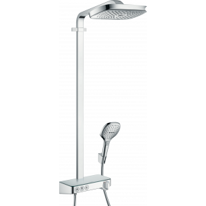 Душевая система hansgrohe Raindance Select E 300 3jet Showerpipe с термостатом, хром 27127000