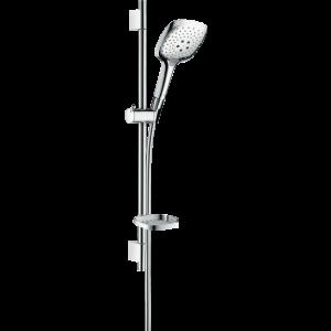 Душевой набор Hansgrohe Raindance Select E 150 3jet со штангой 65 см и мыльницей, хром 27856000