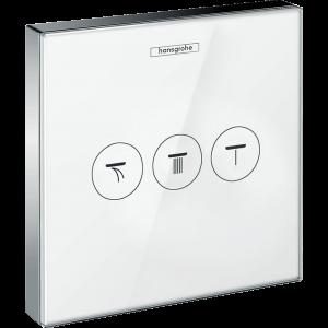 ShowerSelect Glass Модуль ShowerSelect с 3 запорными клапанами 15736400, белый/хром