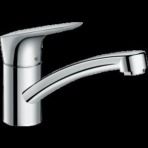 Кухонный смеситель Hansgrohe Logis M31 однорычажный, 120, для водонагревателей открытого типа, 1jet 71831000, хром