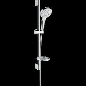 Душевой набор hansgrohe Croma Select Е Vario и мыльницей Casetta 26586400, белый/хром