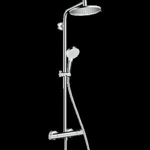 Душевая система hansgrohe Crometta S 240 1jet Showerpipe EcoSmart с термостатом 27268000