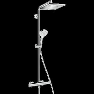 Душевая система hansgrohe Crometta Е 240 1jet Showerpipe с термостатом 27271000, хром