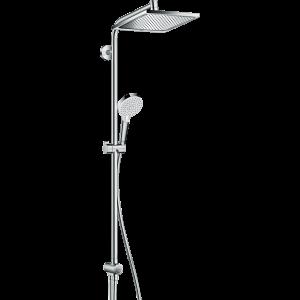 Душевая система hansgrohe Crometta E 240 1jet Showerpipe Reno EcoSmart 27289000, хром