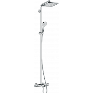 Душевая система hansgrohe Crometta E 240 1jet Showerpipe с термостатом 27298000, хром