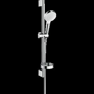 Душевой набор hansgrohe Crometta Vario и мыльницей Casetta 65, белый/хром 26553400
