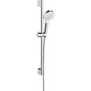 Душевой набор hansgrohe Crometta 1jet Green 65 см, белый/хром 26554400