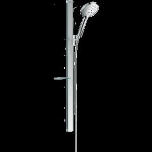 Душевой набор Hansgrohe 120 3jet EcoSmart 9 л/мин со штангой 90 см и мыльницей 27649000, хром