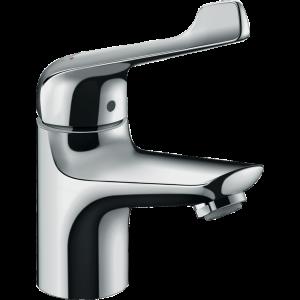 Смеситель для раковины Hansgrohe Novus 70, однорычажный, ½', с длинной рукояткой, со сливным гарнитуром 71920000, хром