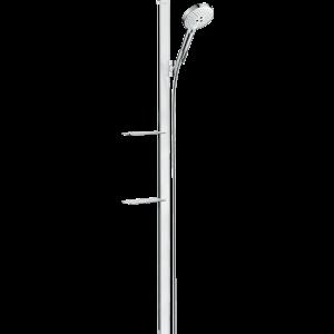 Душевой набор Hansgrohe Raindance Select S 120 3jet со штангой 150 см и мыльницей 27646400, белый/хром