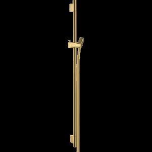 Душевая штанга Hansgrohe Unica S Puro 90 см со шлангом 28631990, полированное золото