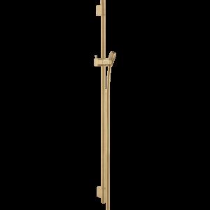 Душевая штанга Hansgrohe Unica S Puro 90 см со шлангом 28631140, шлифованная бронза