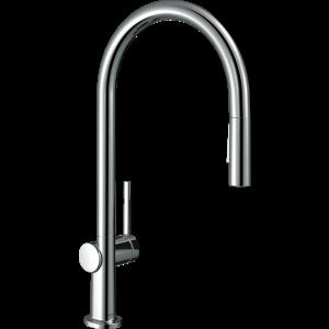 Кухонный смеситель Hansgrohe Talis M54 однорычажный, 210, Eco, с вытяжным душем, 2jet 72842000, хром