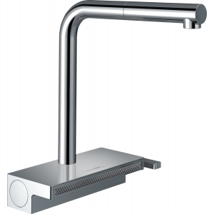 Кухонный смеситель Hansgrohe Aquno Select M81 однорычажный, 250, с вытяжным душем, 2jet, sBox 73830000, хром