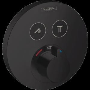 Термостат Hansgrohe ShowerSelect S, для 2 потребителей, СМ 15743670, матовый черный