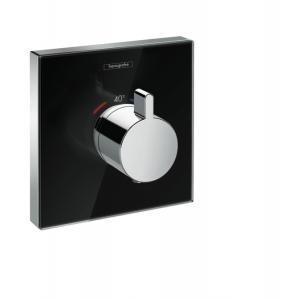 Термостат hansgrohe ShowerSelect Highflow для душа, стеклянный 15734600, черный/хром